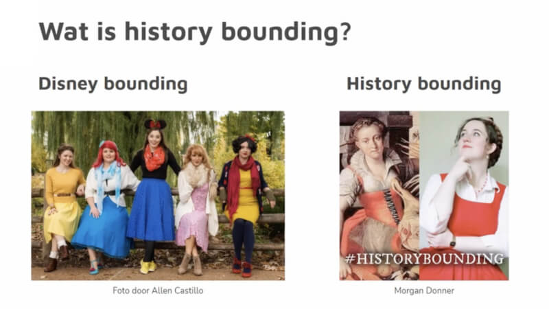 Kostuumontwerp en history bounding: een casestudy